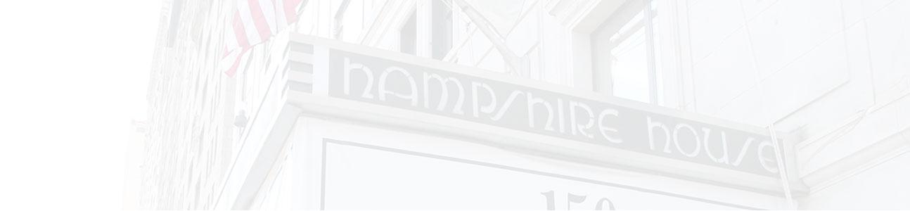 hampshire house entrance sign.